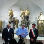 Sgarbi e il sindaco Baldelli al Museo dei Bronzi Dorati