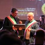 Il sindaco sul palco con Cevoli