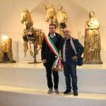 Cevoli e il sindaco al museo dei Bronzi